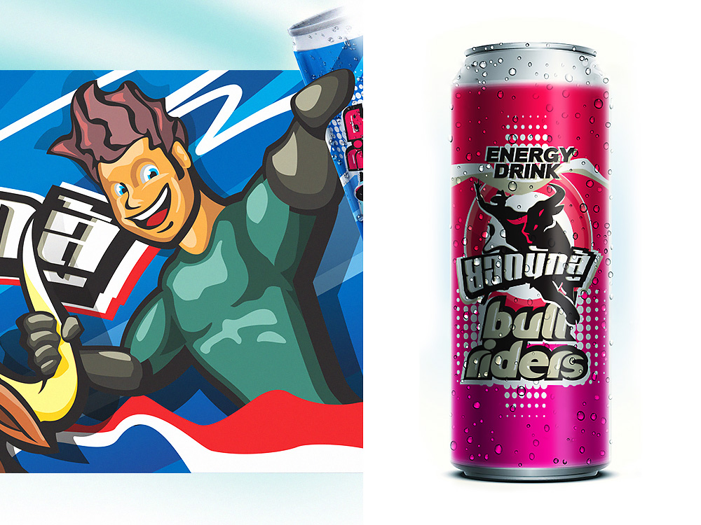 Packaging design cans for energy drink